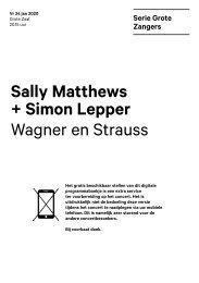 2020 01 24 Sally Matthews + Simon Lepper