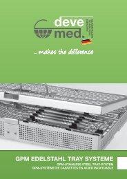 devemed Dental Instrumente Kassetten GPM-Trays Katalog