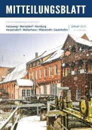 Nürnberg-Katzwang/Worzeldorf/Kornburg/Herpersdorf - Januar 2020