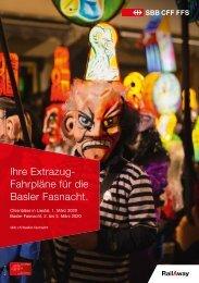 Fahrplan Extrazuege der Basler Fasnacht 2020