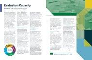 Evaluation Capacity: A Critical Tool for Social Innovation