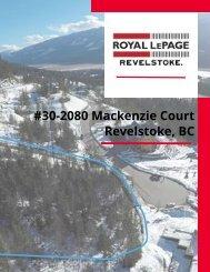 30-2080 Mackenzie Court Listing Package