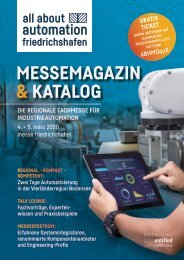 Messemagazin & Katalog | all about automation friedrichshafen