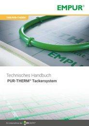 Technisches Handbuch PUR-THERM Tackersystem 2020