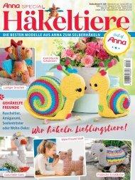 Zeitschrift Häkeltiere - Auszug aus Anna Special (A513)