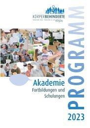 Körperbehinderte Allgäu Akademie Programm 2020