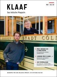 KLAAF Das kölsche Magazin Feb-Juli 2020