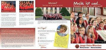 Junge Chöre München – Musik ist cool