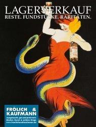 Frölich & Kaufmann Lagerverkauf 1/2020