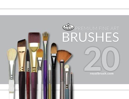 NEW Royal Langnickel Gold Vegan Synthetic Sable Paint Brush R585 Script Liner 6