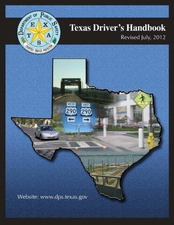 Driver's Handbook - Texas Department of Public Safety
