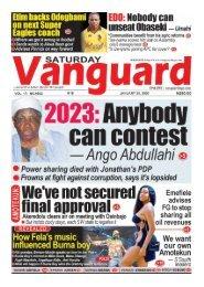 25012020 - 2023: Anybody can contest - Ango Abdullahi