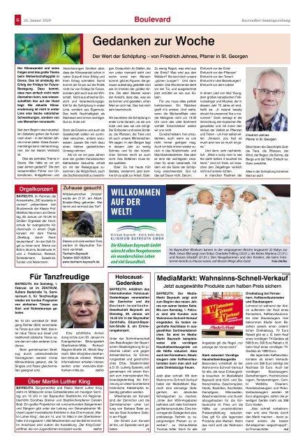2020-01-26 Bayreuther Sonntagszeitung
