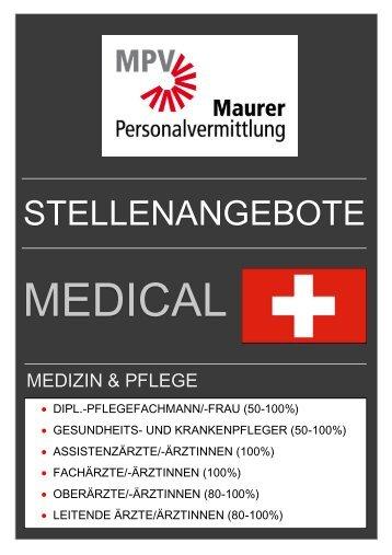 Stellenangebote MPV - Medical CH - Medizin & Pflege