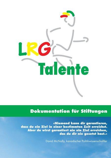 LRGettnau Talente Broschüre Stiftungen