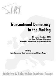 Transnational Democracy in the Making – IRI Europe Handbook 2004