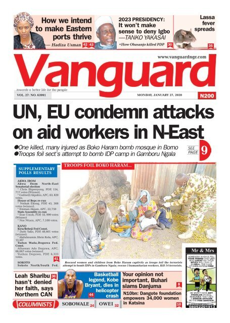 27012020 - UN, EU condemn attacks on aid workers in N-East