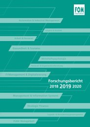 FOM Forschungsbericht 2019