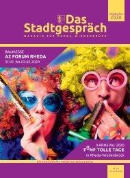 Das Stadtgespräch Rheda-Wiedenbrück Ausgabe Februar 2020