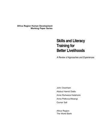 Skills and Literacy Training for Better Livelihoods - Literacyworks