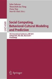 Social Computing, Behavioral-Cultural Modeling and Prediction ...