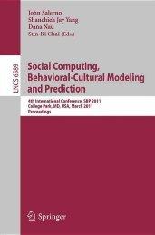 Social Computing, Behavioral-Cultural Modeling and Prediction ...