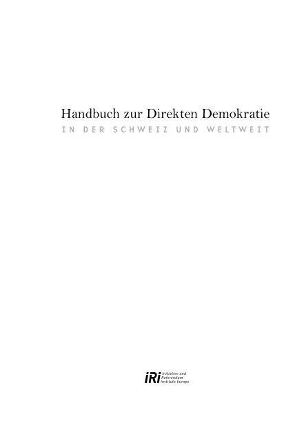Handbuch zur Direkten Demokratie – in der Schweiz und weltweit