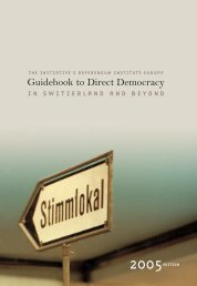 Guidebook to Direct Democracy in Switzerland an beyond (2005)