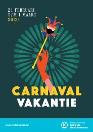 Vakantiebrochure carnaval Koksijde-Oostduinkerke 2020