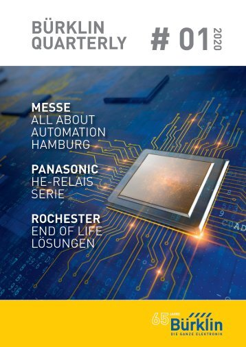 Bürklin Elektronik Quarterly # 01 Deutsch