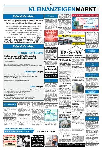 Kleinanzeigen - Ostfriesen-Zeitung