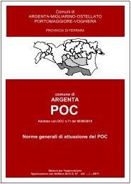 Norme generali di attuazione del POC - Comune di Argenta