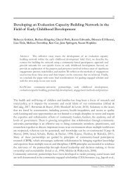 Developing an Evaluation Capacity Building Network in the Field of Early Childhood Development