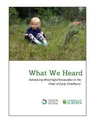 What We Heard: Advancing Meaningful Evaluation in the Field of Early Childhood