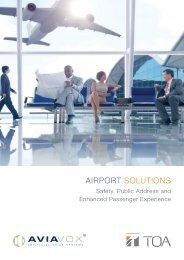 Airport Solution: Safety, Public Address and Enhanced Passenger Experience