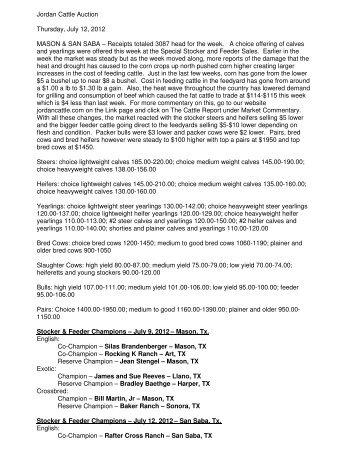 7/12/2012 - Jordan Cattle Auction