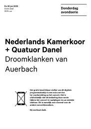 2020 01 30 Nederlands Kamerkoor + Quatuor Danel