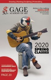 Gage Spring 2020 Class and Workshop Catalog