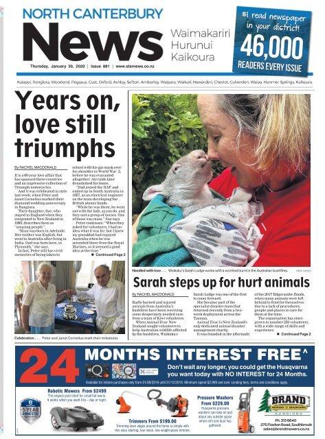 North Canterbury News: January 30, 2020