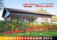 SCB Vereinsheft 2013 - Skiclub Birkenfeld