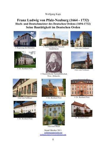 Seine Bautätigkeit im Deutschen Orden - Franz-Ludwig von Pfalz ...