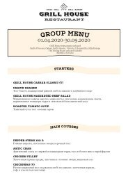 Grill House Group Menu Spring 01.04.20-30.09.20 (RUS)