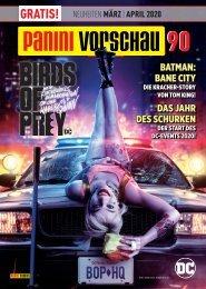 Panini Vorschau 90: Neuheiten März/April 2020