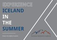 Summer School in Iceland brochure design