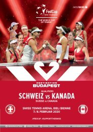Fed Cup 2020 SUISSE – CANADA