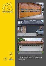 Techniniai garažo vartų duomenys