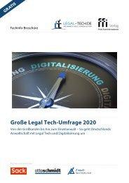 Große Legal Tech-Umfrage 2020