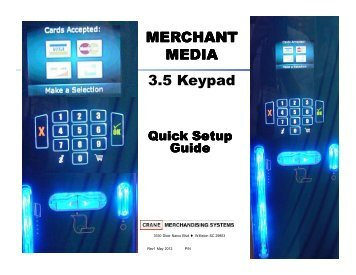 MERCHANT MEDIA 3.5 Keypad - Can-West Vending Distributors