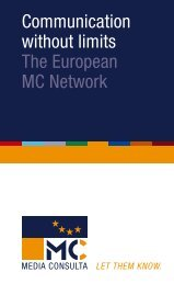 Communication without limits The European MC Network - Com_unit