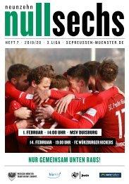 nullsechs Stadionmagazin - Heft 7 2019/20
